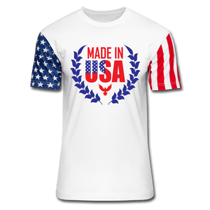 American Flag tee Made in USA Unisex Stars & Stripes T-Shirt