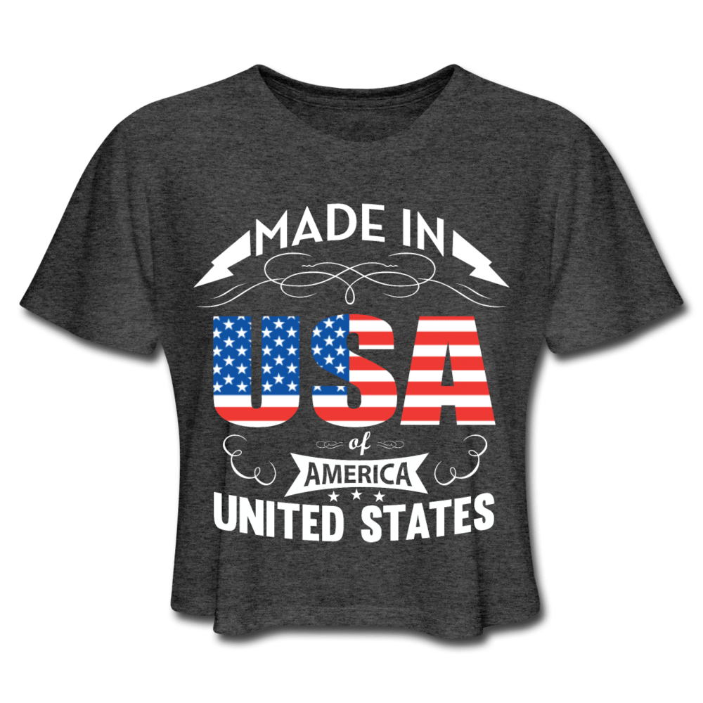 American Flag Tee Made in USA Women's Cropped T-Shirt