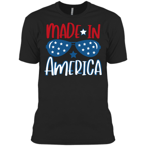 American Flag Tee Men's Made in USA Cotton T-Shirt