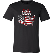 Load image into Gallery viewer, American Flag tee shirt Unisex 100 percent USA
