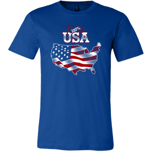 American Flag tee shirt Unisex 100 percent USA