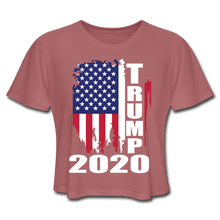 Load image into Gallery viewer, American Flag Tee Trump 2020 Women's Cropped T-Shirt