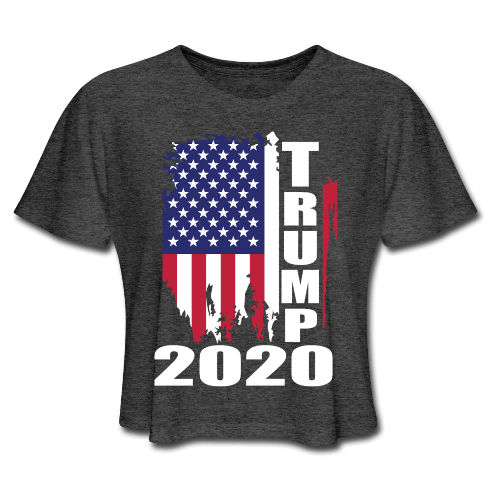American Flag Tee Trump 2020 Women's Cropped T-Shirt