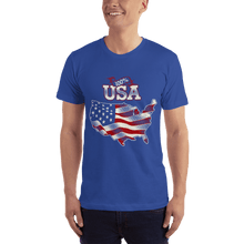 Load image into Gallery viewer, American Flag Tee Unisex Jersey Short Sleeve Tee 100% American