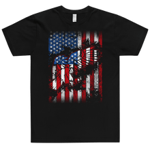 Load image into Gallery viewer, American Flag Tee Unisex Jersey Short Sleeve Tee American flag Eagle