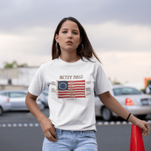 Load image into Gallery viewer, American Flag Tee Unisex Made in the USA 1776 Betsy Ross