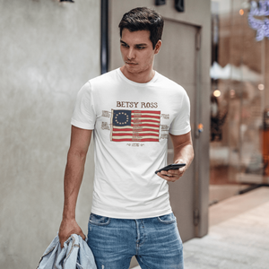 American Flag Tee Unisex Made in the USA 1776 Betsy Ross