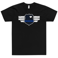 Load image into Gallery viewer, American Flag Tee Unisex Jersey Short Sleeve Tee Captain Blue Line
