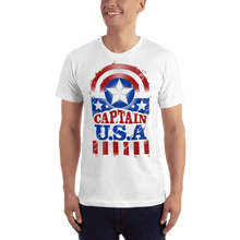Load image into Gallery viewer, American Flag Tee Unisex Jersey Short Sleeve Tee Captain USA