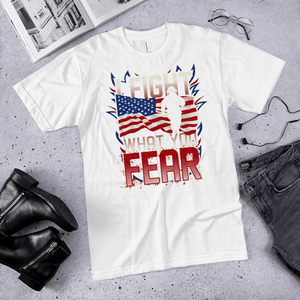 American Flag Tee Unisex Jersey Short Sleeve Tee I fight what you fear