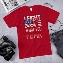 Load image into Gallery viewer, American Flag Tee Unisex Jersey Short Sleeve Tee I fight what you fear