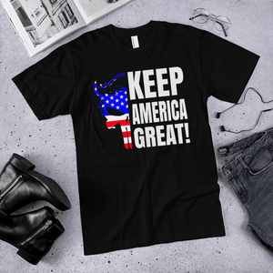 American Flag Tee Unisex Jersey Short Sleeve Tee Keep America Great