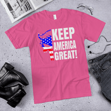Load image into Gallery viewer, American Flag Tee Unisex Jersey Short Sleeve Tee Keep America Great