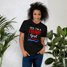 Load image into Gallery viewer, American Flag Tee Unisex Jersey Short Sleeve Tee Trump Girl
