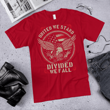 Load image into Gallery viewer, American Flag Tee Unisex Jersey Short Sleeve Tee United We Stand