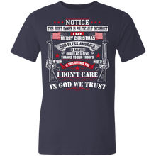 Load image into Gallery viewer, American Flag Tee Unisex Made in the USA I don't care T-Shirt