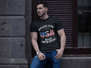 American Flag Tee Unisex Made in the USA Jersey T-Shirt