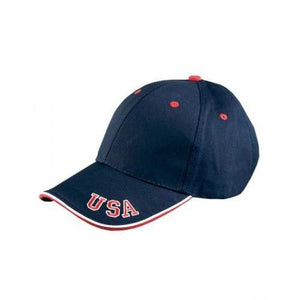 American Flag tee USA embroidered Ball cap