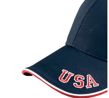 Load image into Gallery viewer, American Flag tee USA embroidered Ball cap