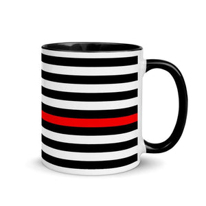 American Flag Thin Red Line Mug with Color Inside
