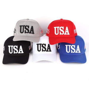 American Flag USA 2020 Trump 45 Ball Cap
