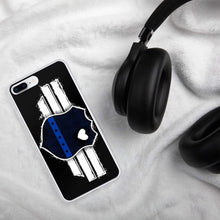 Load image into Gallery viewer, Back the badge thin blue line iPhone Case