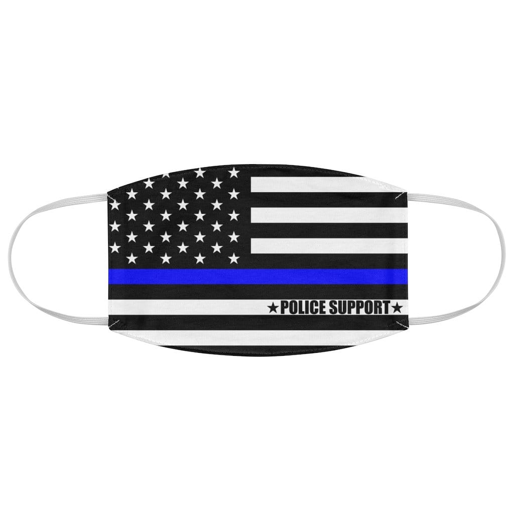 Blue thin Line Police Reusable Fabric Face Mask