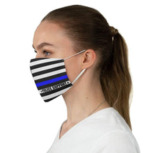 Load image into Gallery viewer, Blue thin Line Police Reusable Fabric Face Mask