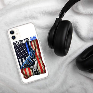 Defend the blue Police iPhone Case