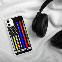Load image into Gallery viewer, No One Fights Alone USA iPhone Case