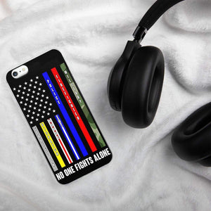 No One Fights Alone USA iPhone Case