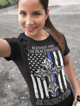 Load image into Gallery viewer, Peacemaker Back the blue Jersey Short-Sleeve T-Shirt
