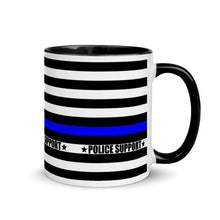 Load image into Gallery viewer, Police Flag Thin Blue line Mug with Color Inside
