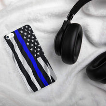 Load image into Gallery viewer, Thin Blue Line Police iPhone Case