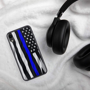Thin Blue Line Police iPhone Case