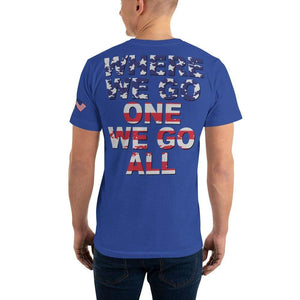 Q where we go one we go all Unisex T-Shirt