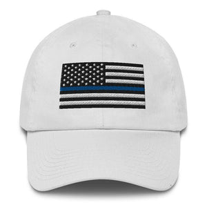 Thin Blue Line Police Cotton Cap Made in the USA