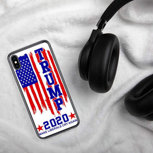 Trump 2020 Make Liberals Cry again iPhone Case