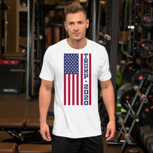 Load image into Gallery viewer, Unisex American Flag Tee Trump 2020 White T-shirt