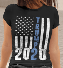 Load image into Gallery viewer, Unisex Trump 2020 blue line Jersey Short Sleeve Tee