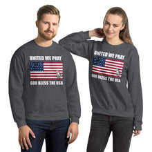 Load image into Gallery viewer, United We Pray God bless the USA Unisex Christian Sweatshirt