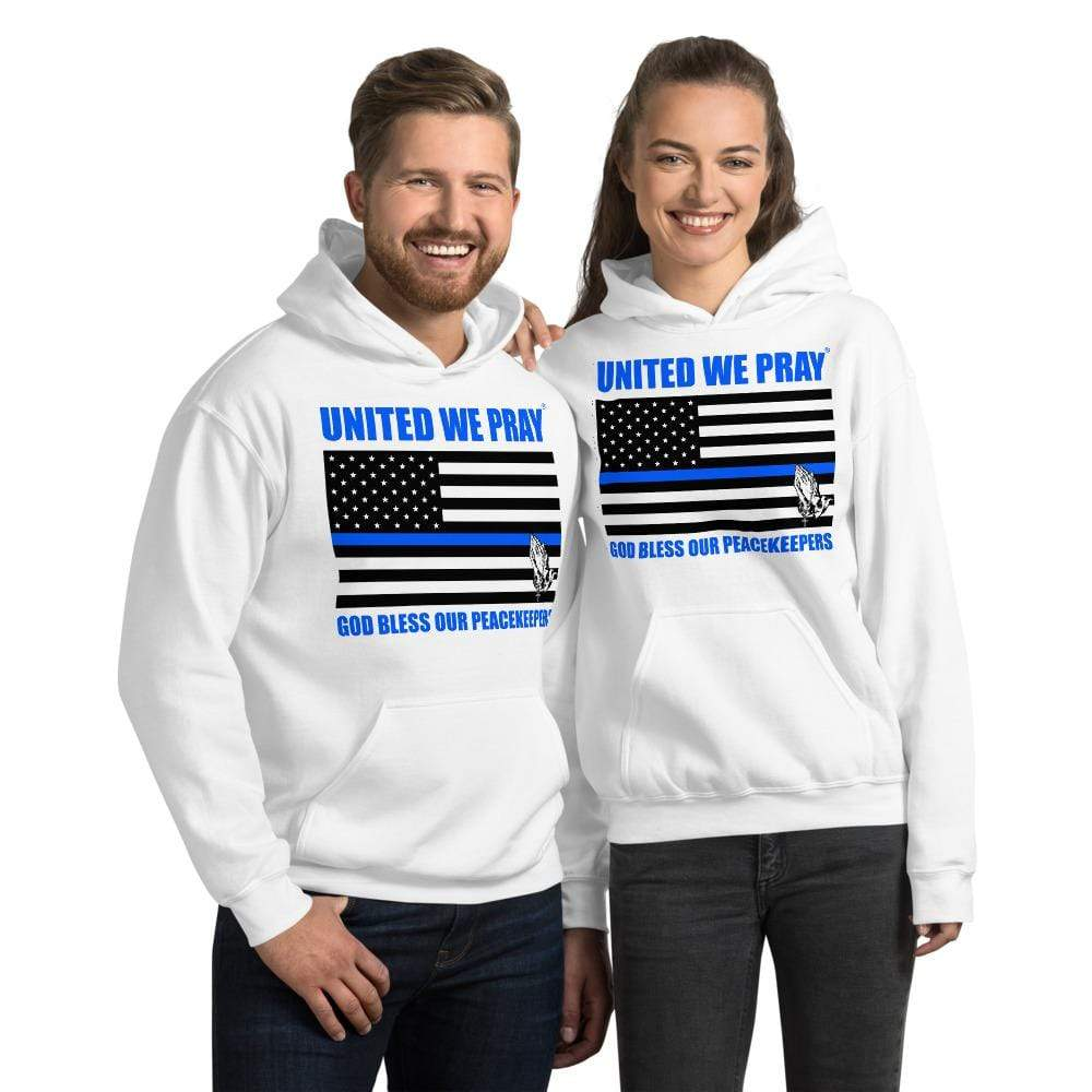United We Pray Thin Blue Line Peacekeepers Christian Unisex Hoodie