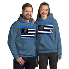 Load image into Gallery viewer, United We Pray Thin Blue Line Peacekeepers Christian Unisex Hoodie