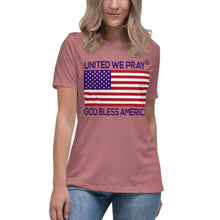 Load image into Gallery viewer, United We Pray® Women's Relaxed Christian T-Shirt