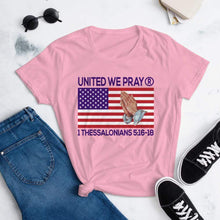 Load image into Gallery viewer, United We Pray short sleeve Christian t shirts For Women