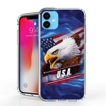 Load image into Gallery viewer, USA Eagle American Flag iPhone Case For iPhone 11