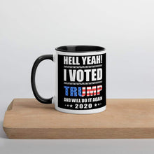 Load image into Gallery viewer, Vote Trump 2020 coffee Mug with Color Inside