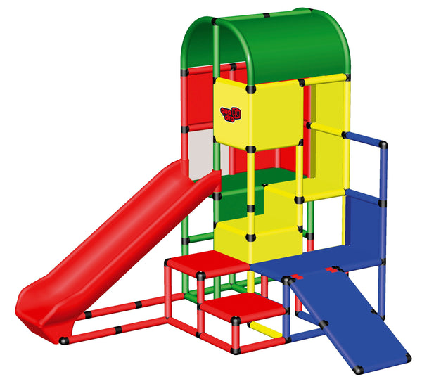 Climbing Castle with Integrated Slide