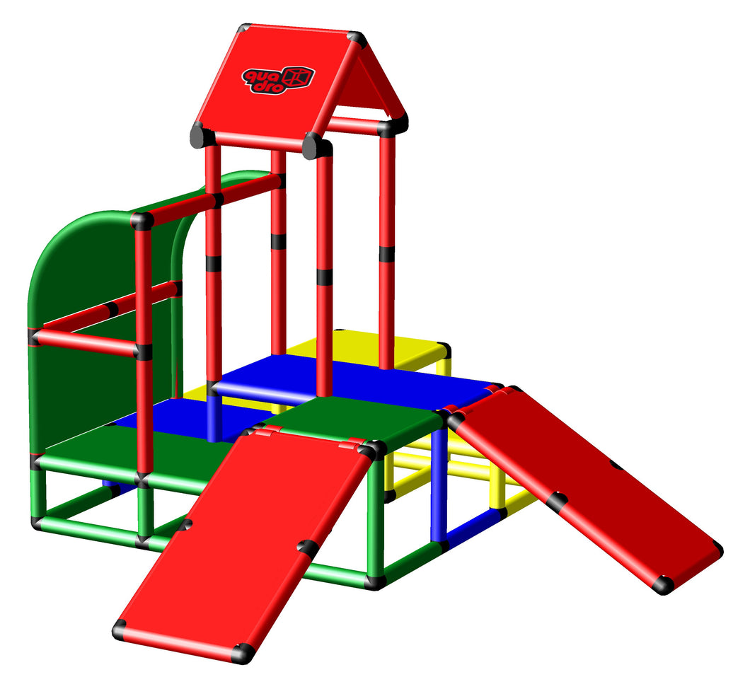 Climbing Pyramid with Two Baby Slides