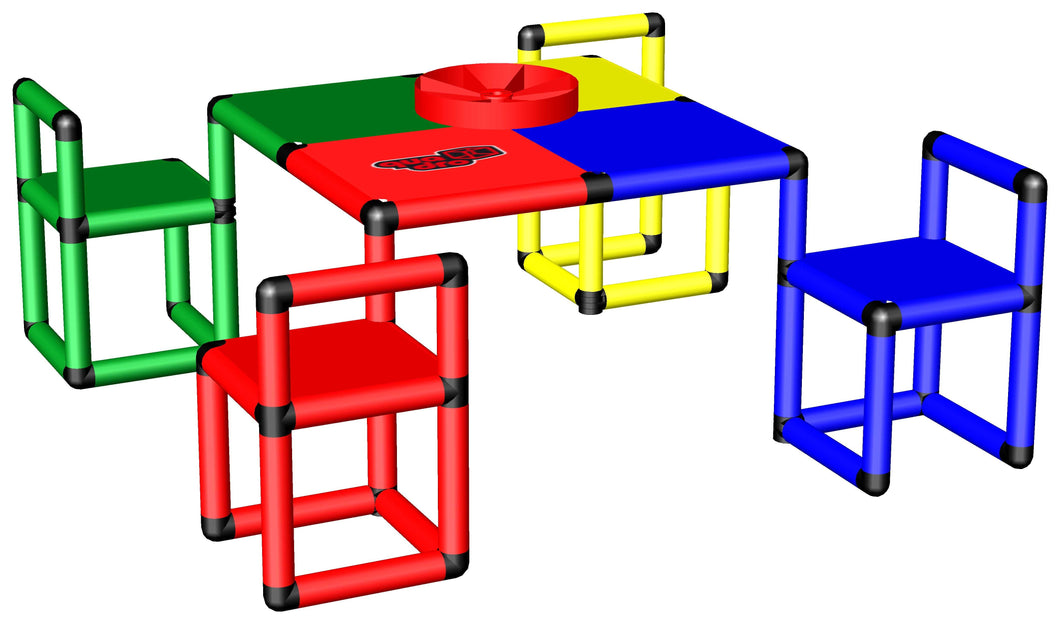 Play Table with 4 Swivel Chairs